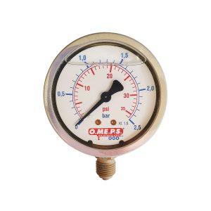 O.ME.P.S Gauge Pressure 2.5Bar Bottom Entry
